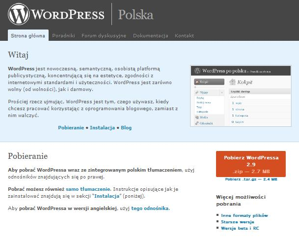 Wordpress.org po Polsku