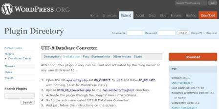 UTF8 konwertor bazy danych