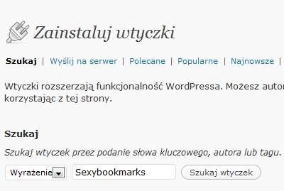 Sexybookmarks zainstaluj wtyczkę