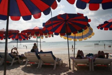 Plaża Patang na wyspie Phuket w Tajlandii