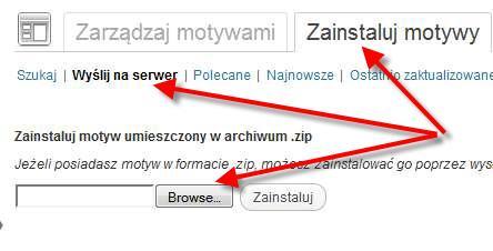 Wysłanie nowego szablonu na bloga na serwer