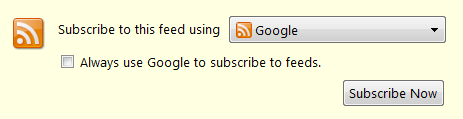 Subskrybcja bloga poprzez Google Reader
