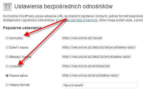 Optymalizacja bloga w zakresie linków bezpośrednich