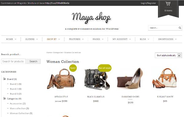 Maya szablon sklepowy