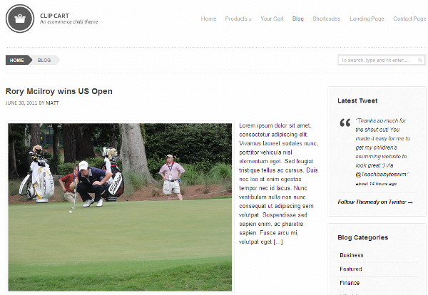 Clip Cart strona blogowa