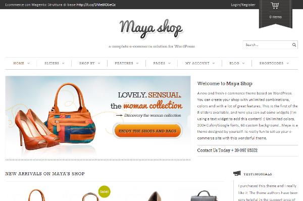 Szablony sklepowe Maya
