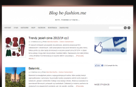 Stylizacja bloga: Be-fashion.pl