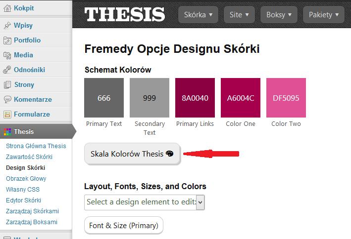 Skala kolorów Thesis