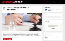 Budowa bloga Motoznafca.pl
